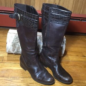 Naturalizer brown leather boots size 8